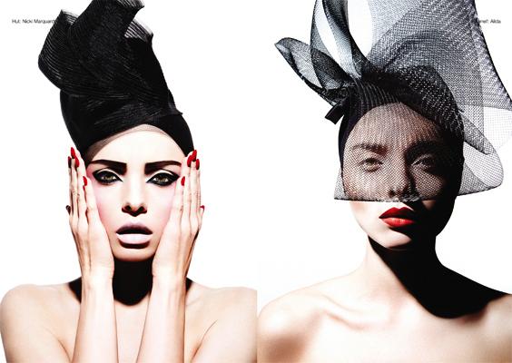 Die fotografin schoss ein beauty editorial für das munich magazin