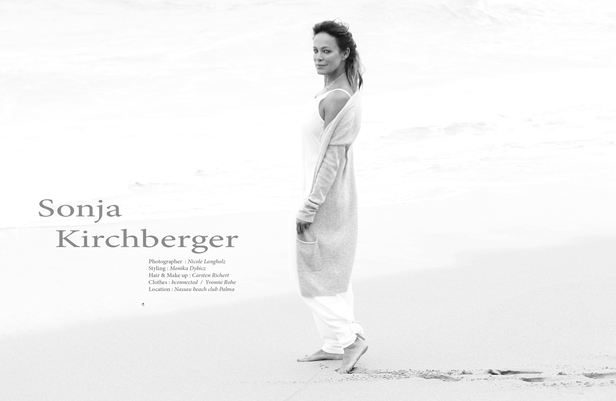 Sensual Sonja Kirchberger in OOOM mag on the island of Majorca, hair & make-up by Carsten RICHERT c/o CLOSE UP - News - GoSee