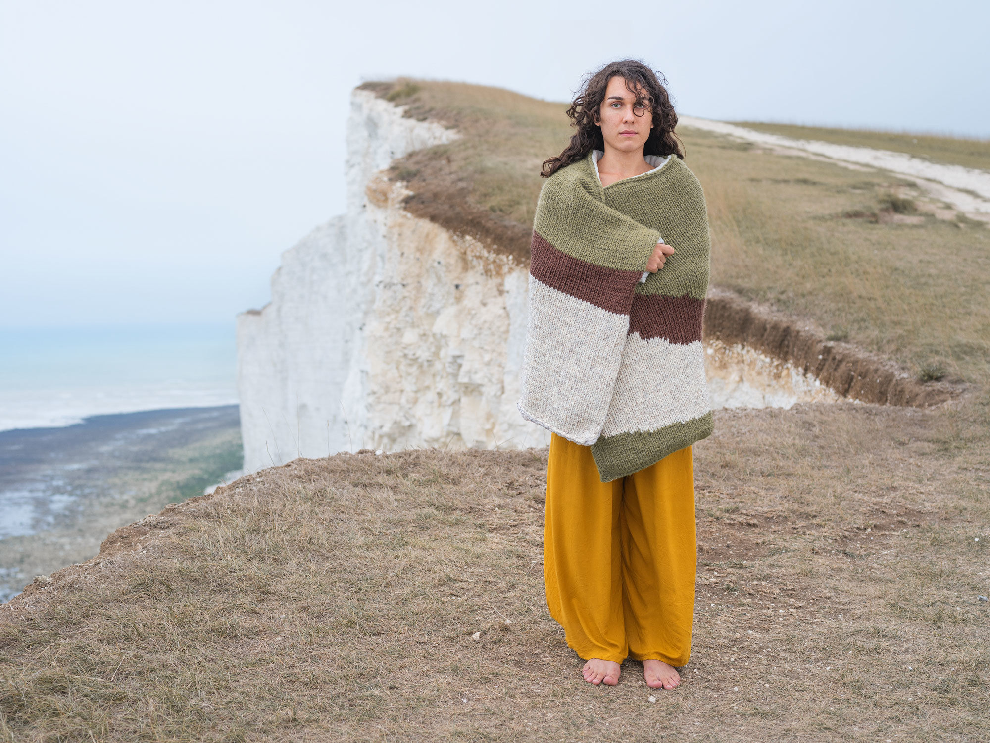 Lo, Beachy Head, 2018. Limited edition of 100 prints in the Knitted Camouflage series by Joseph Ford