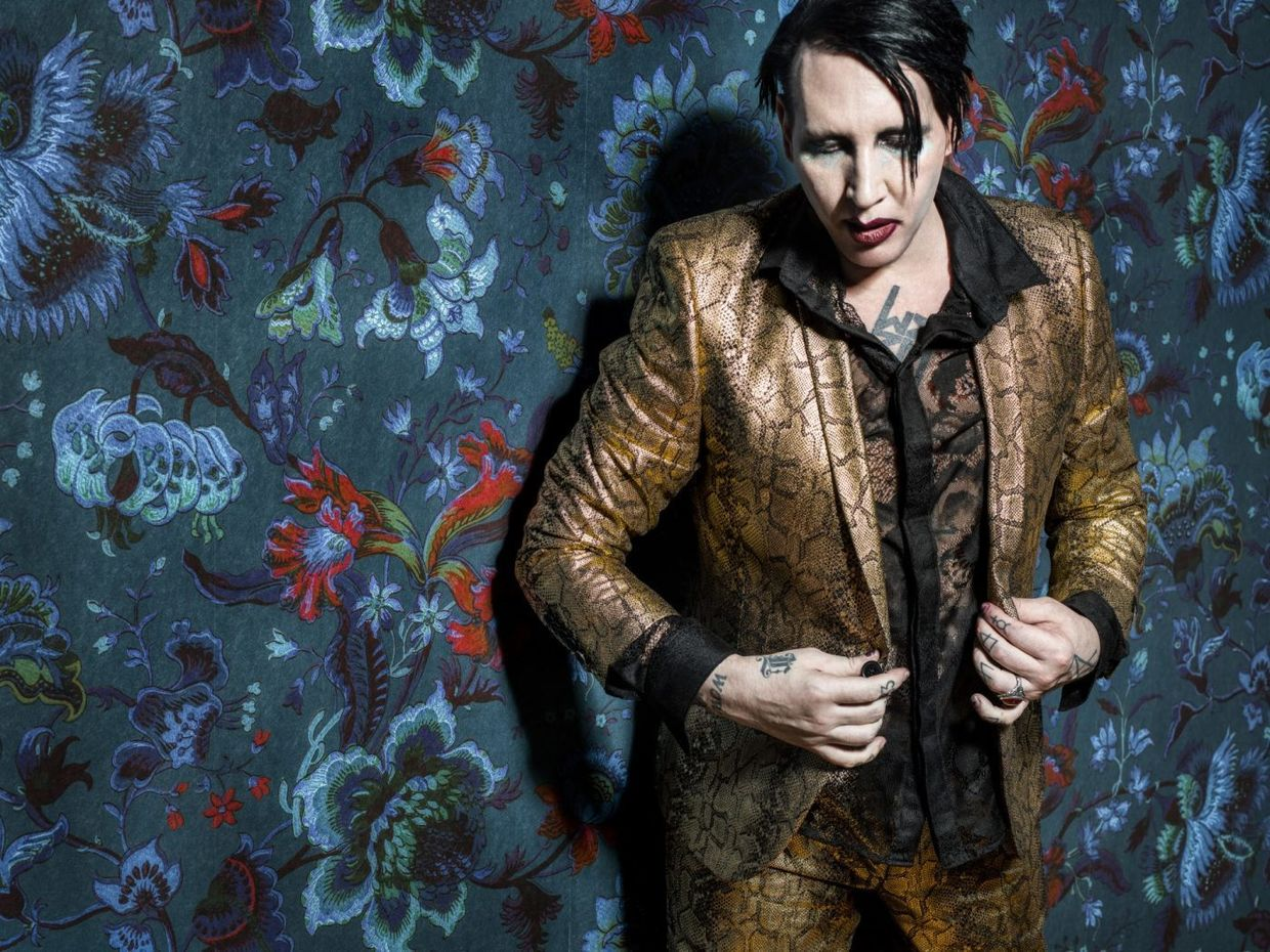 Marilyn Manson by PEROU c/o JSR AGENCY : 21 Years in Hell. Book out now