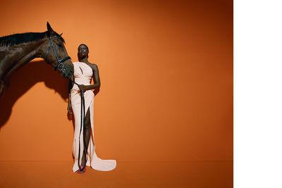 NINA KLEIN, Hair & Make Up: Benjamin Becher, Photography: Nadine Ijewere für Mytheresa
