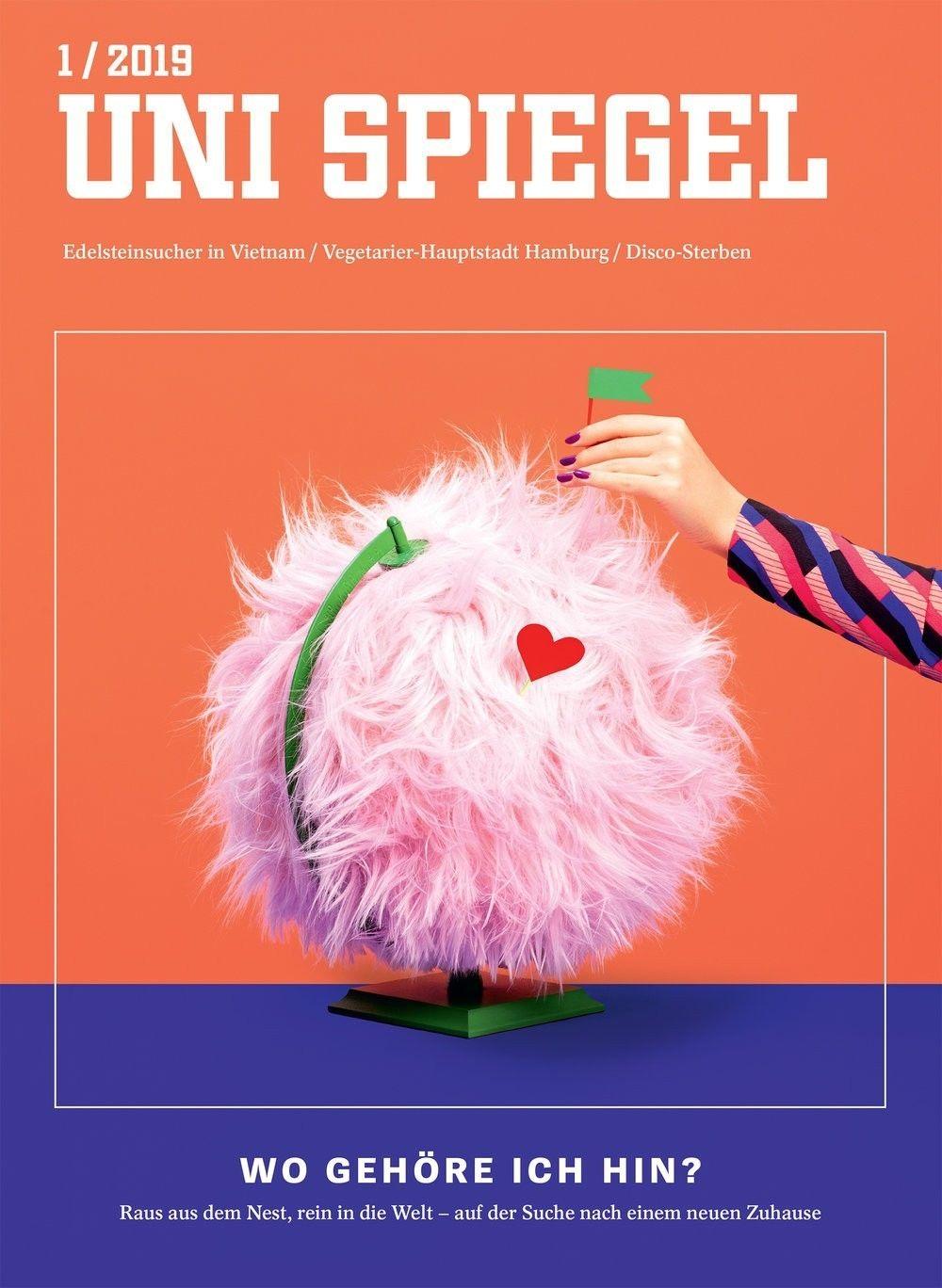 COSMOPOLA | Cover for  Uni Spiegel magazine by ILKA & FRANZ