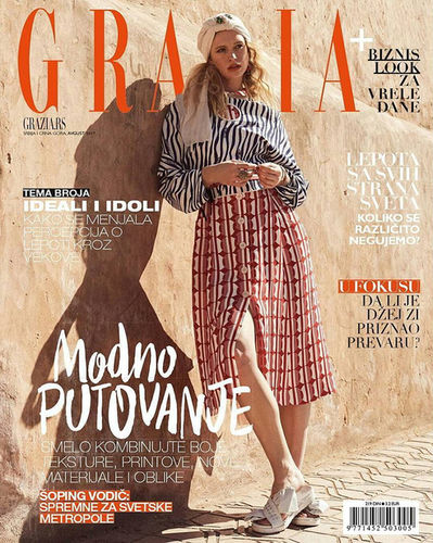 Stephan Glathe fotografiert Model Alice Cornish für eine Coverstrecke in der Grazia Serbia