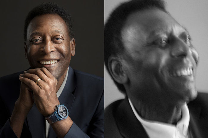 "SEVERIN WENDELER: ""Pelé"" photographed by ""Sandro Baebler c/o Severin Wendeler"" for HUBLOT"