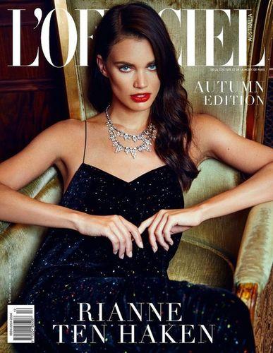 RIANNE TEN HAKEN for L'Officiel Australia autumn edition