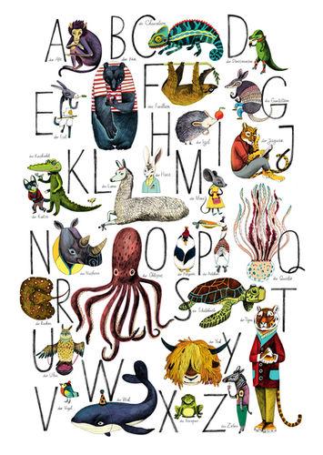 Daria Rychkova Tiere-ABC