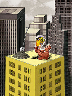 JUTTA FRICKE ILLUSTRATORS : Tom COOL for PRIVATE WEALTH