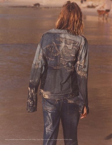 BAKER & CO : Anja Rubik in 'Blue Jeans' by Henrik Purienne for Vogue Paris May 2021
