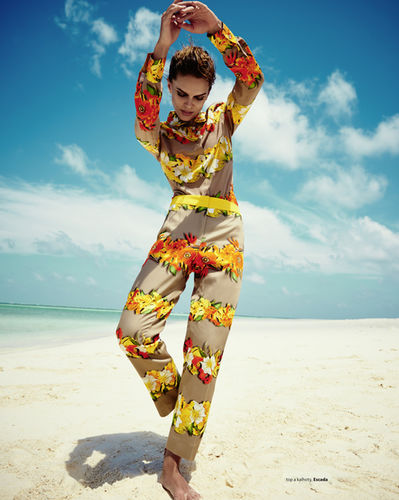 Editorial for the main issue of Harpers Bazaar CZ