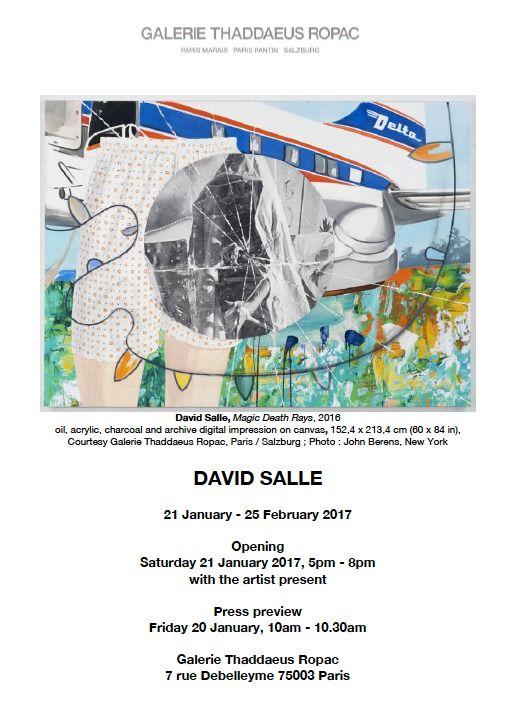 GALERIE THADDAEUS ROPAC : David SALLE at Galerie Thaddaeus Ropac Paris Marais