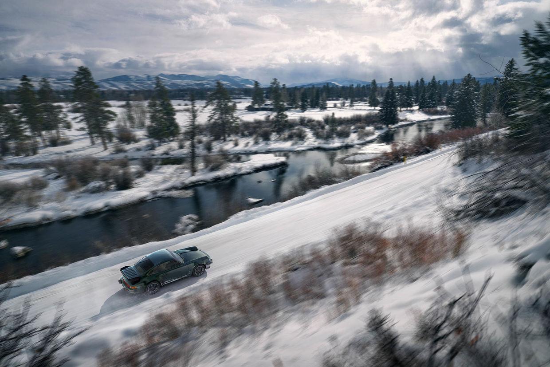 JEFF LUDES & Mainworks CGI with a vintage Porsche