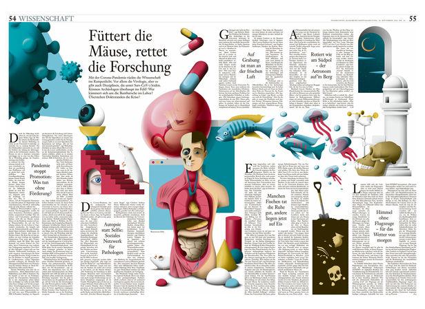 FRANKFURTER ALLGEMEINE SONNTAGSZEITUNG 'SAVING RESEARCH' by DAQ c/o 2AGENTEN
