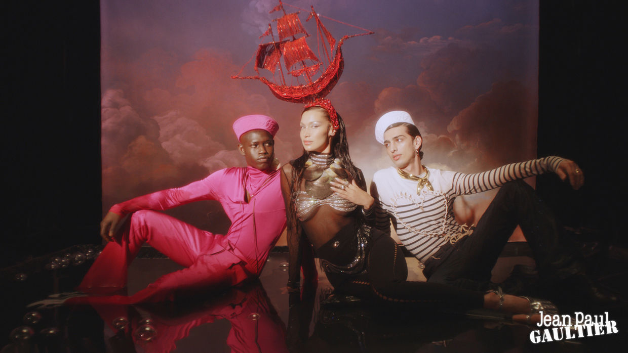QAHER HARHASH FOR JEAN PAUL GAULTIER LES MARINS 2021 CAMPAIGN ICONIC