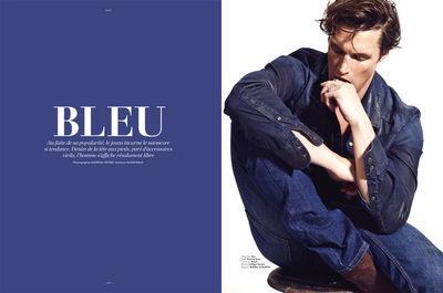 LÓFFICIEL HOMME Editorial mit Topmodel Shaun de Wet/ spinmodels