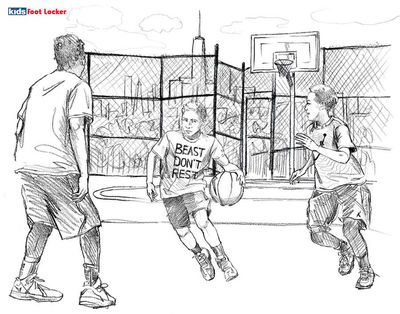 ISABEL SCHARENBERG CREATIVE MANAGEMENT: Concept Drawings for Foot Locker by Lily Qian