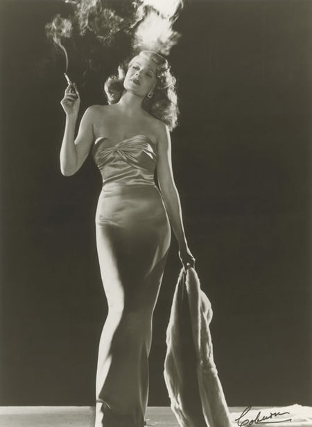 GLAMOUR OF THE GODS : Rita Hayworth for Gilda by Robert Coburn, 1946 (National Portrait Gallery)