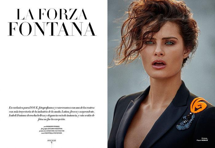 Isabeli Fontana for Issue Chile Magazine shot by Eduardo Rezende