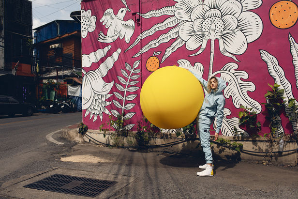 "WILDFOX RUNNING: Julia Marie Werner in Bangkok with ""Big Yellow Balloon"""