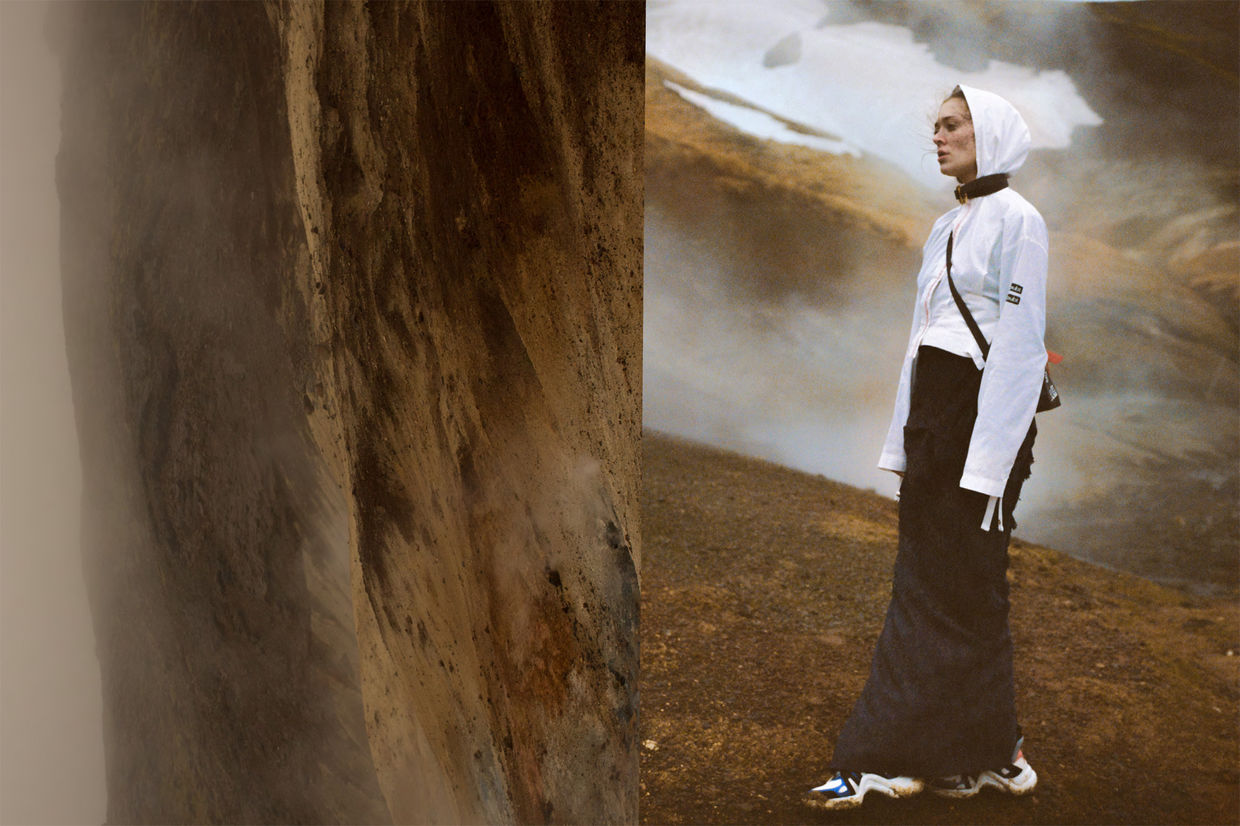 DAMIEN KRISL with MAEVA MARSHALL for SLIMI MAGAZINE on ICELAND