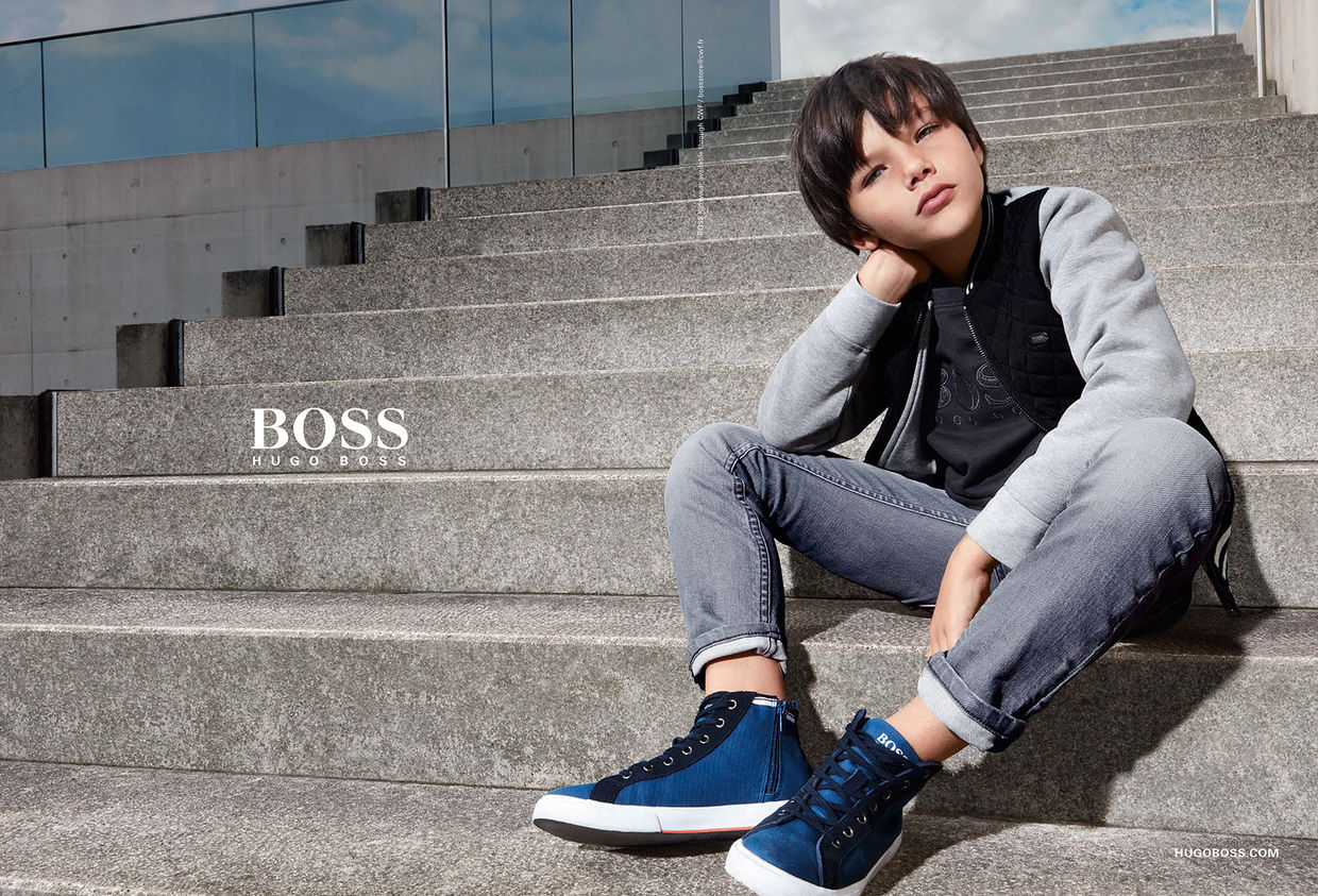 b88a3b8df Style at a smaller scale', the HUGO BOSS Kids S/S collection '18 ...