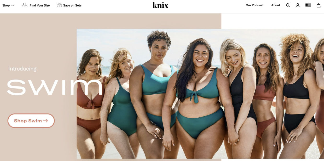 ALYSSA PIZER MANAGEMENT: Knix Swim By Colette de Barros