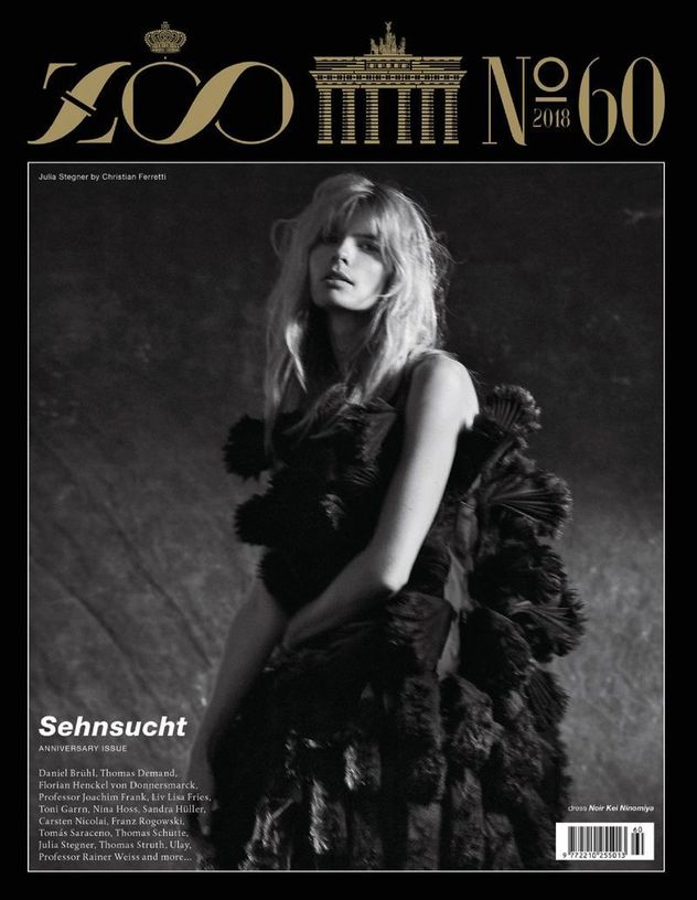JULIA STEGNER for Zoo Magazine shot by Christian Ferretti