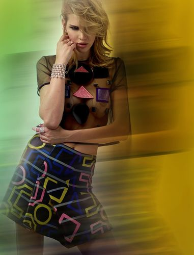 Gabriela Iliescu for Paris Capitale shot by Vincent Alvarez