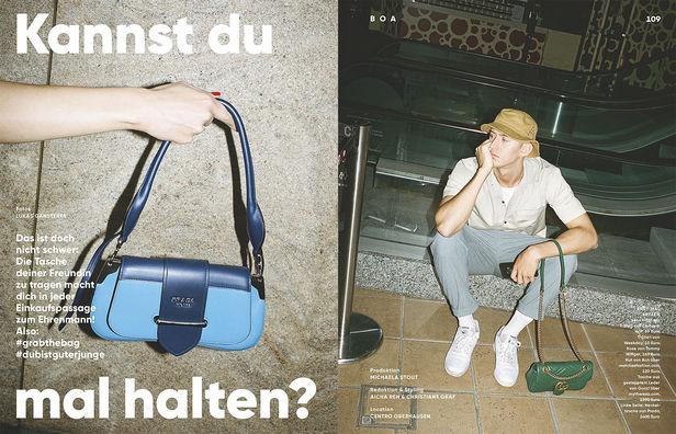 "NINA KLEIN, Christiane Graf, Boa Magazine,  ""Kannst du mal halten?"""