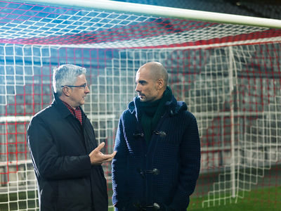 ANKE LUCKMANN for Audi: Rupert Stadler meets Pep Guardiola