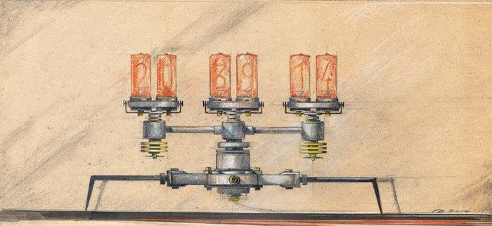 GOSEE ART : Nixie Machine by Frank Buchwald for M.A.D.Gallery