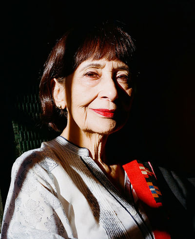 Jake Stangel  c/o GIANT ARTISTS photographed the Julia Child of Indian cooking, Madhur Jaffrey, for Martha Stewart Living