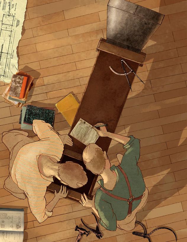 HUBERT WARTER ILLUSTRATION ART