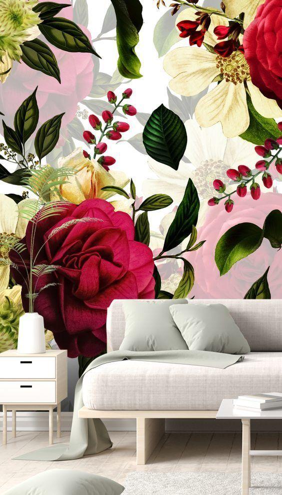 UTART - Ruby Red Roses Wallmural