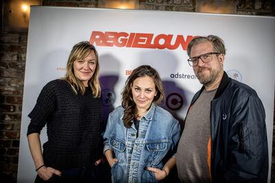 REGIELOUNGE / DIRECTOR'S LOUNGE #53 :Martina Lülsdorf (Managing Director Stink Films Berlin), Chiara Grabmayr und Moritz Merkel (Executive Producer Stink Films Berlin)