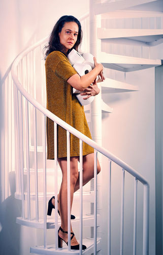 MANU AGAH photographs 'THE TOIPAPER PROJECT' - JESSICA MCINTYRE - actress