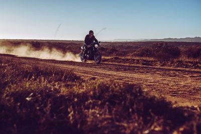 Victor Jon Goico with a Triumph in SA