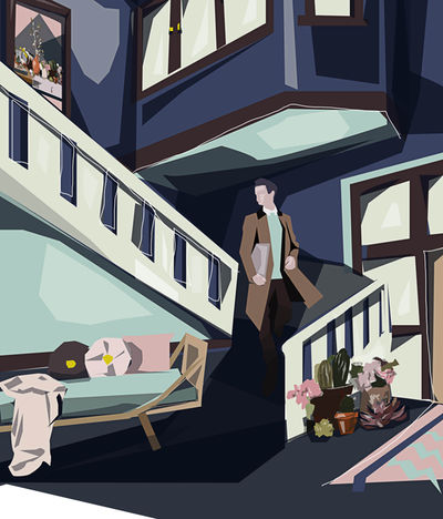 People man downstairs