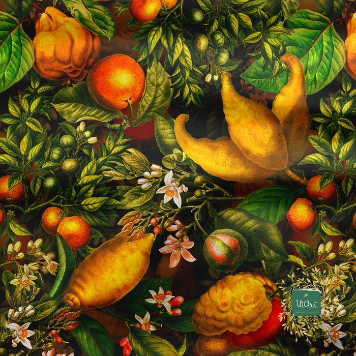 Antique Lemon Fruits Pattern