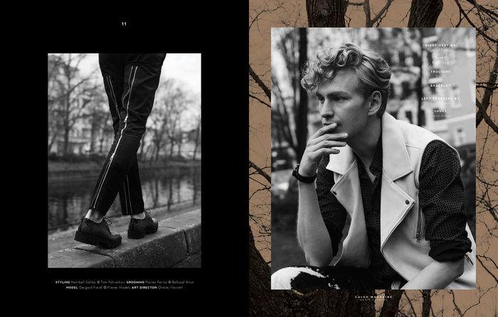AVA PIVOT with Gerhard Freidl for Caleo Magazine