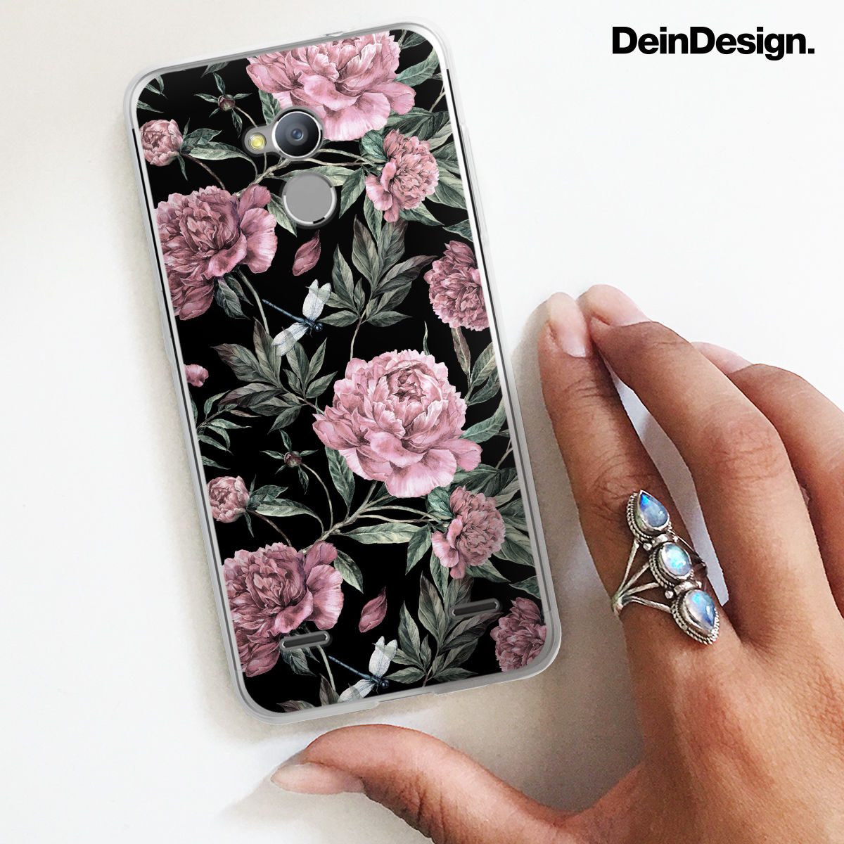 UTART Sepia Pink Vintage Peonies Phone Case