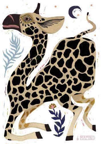 MARIA MARTIN // Tierillustration // Giraffe