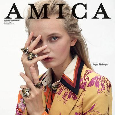Nova for Amica Magazine shot by Nicolas Valois
