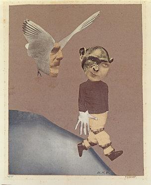 DIE ANDERE SEITE DES MONDES : Hannah Höch, Flucht, 1931, Fotomontage, 23 x 18,4 cm, Institut für Auslandsbeziehungen, Stuttgart