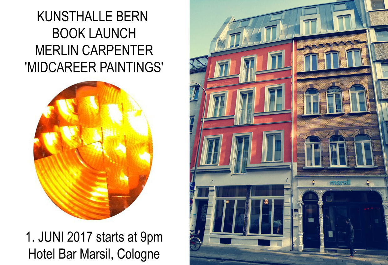 Book Release : Merlin Carpenter 'MIDCAREER PAINTINGS' at Hotel Marsil