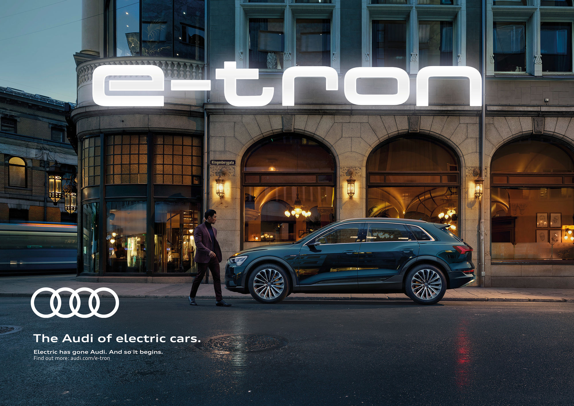FRITHJOF OHM INCL. PRETZSCH international launch campaign for the first all-electric AUDI e-tron