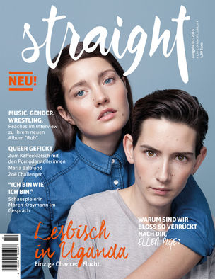 BLOSSOM MANAGEMENT: Theo Schnürer (Hair & Make-up) for Straight Magazine cover