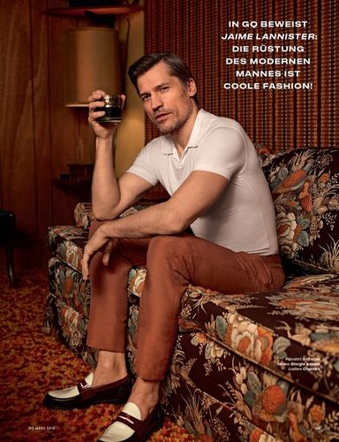 GLAM PRODUCTION for GQ Germany feat. Nikolaj Coster-Waldau