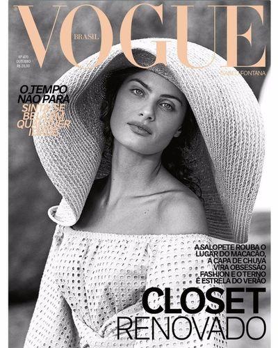 Isabeli Fontana for Vogue Brasil october 2017 shot by Rafael Pavarotti