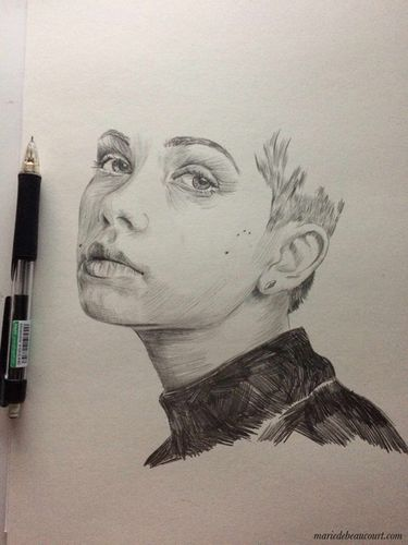 COSMOPOLA | Marie de Beaucourt portrait of Tavi Gevinson work in progress