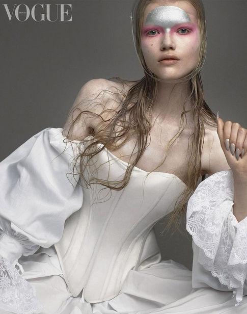 Berlin Based Madeleine Fischer c/o ICONIC for British Vogue December 2020